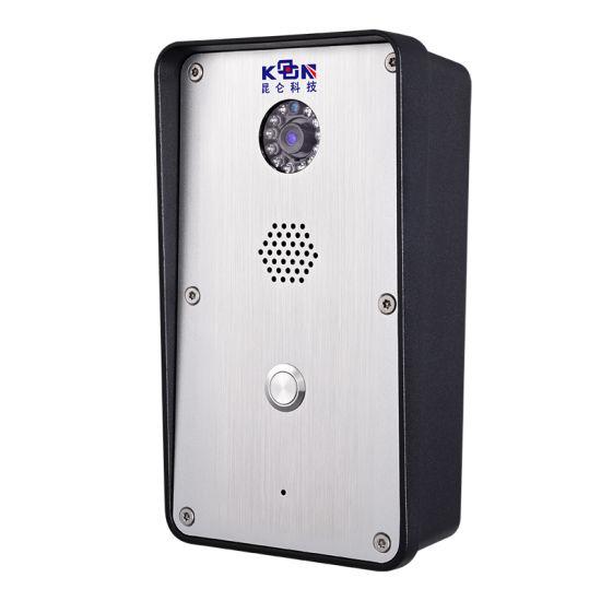 IP SIP VoIP Video Door Entry Emergency Intercom with HD Camera