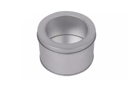 Wholesale Round Travel Candle Tin with PVC Window pictures & photos