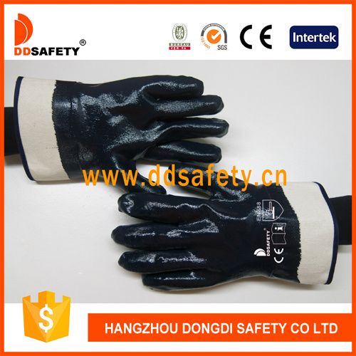 Gold Supplier China Blue Nitrile Coated Safety Working Glove