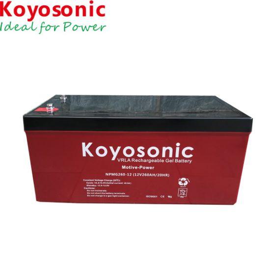 12V 260ah Motive Power Gel Battery for Solar off Grid System