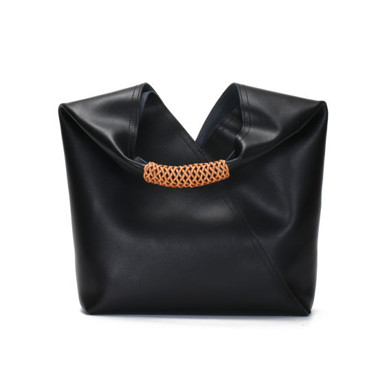 New Design Entry Lux Style Soft Genuine Leather Women Tote Lash Hand Bag