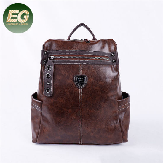 China Fashion Two Uses Shoulder Bag PU Leather Ladies Backpack Sh695 ... fd6153239f454