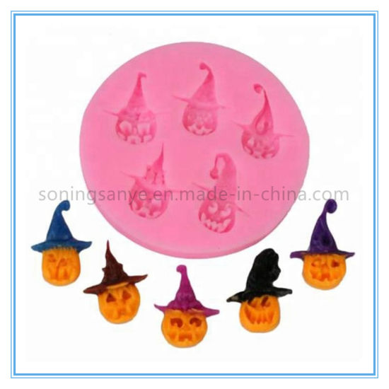 Dto0018 Halloween Pirate Pumpkin Silicone Cake Mold pictures & photos