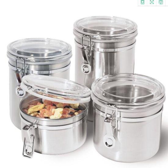 China Kitchen Stainless Steel Storage Jar Sets China Storage