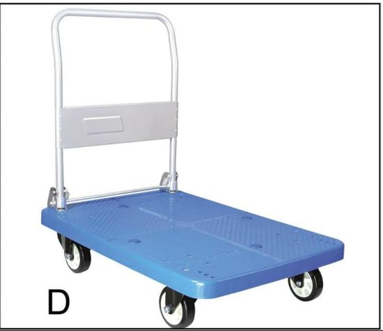 Warehouse Foldable Platform Hand Trolley pictures & photos