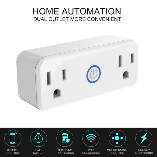 Wi-Fi Connection Flame Retardant Smart Socket pictures & photos