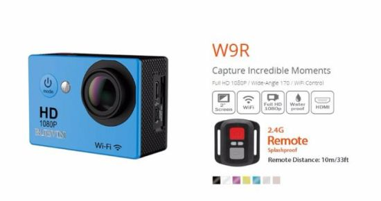 W9r 1080P HD WiFi Action Camera Cam Deportiva 30m Waterproof House Remote Control 170 Ultra Wide Angle Fisheye Sport Camera pictures & photos