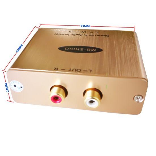 Stereo Audio Hum Eliminator RCA Audio Buzz Isolator Hi-Fi Audio Noise Killer Stereo Audio Filter Ground