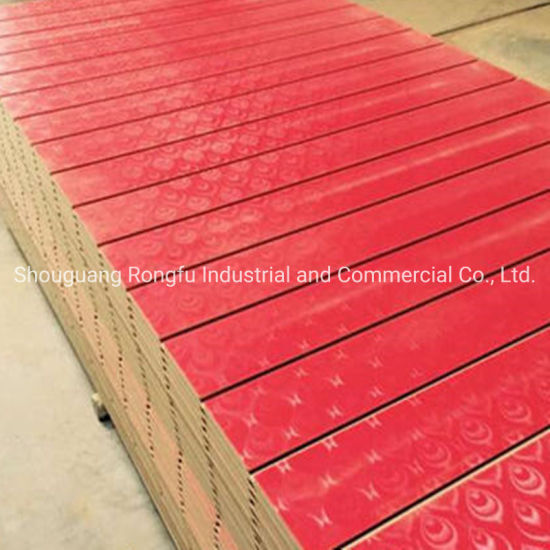 1220*2440mm Melamine Laminated Slotted MDF Board with Aluminum Slots for Display