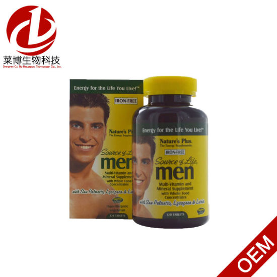 Nature′s Plus, Source of Life, Men, Multi-Vitamin and Mineral Supplement,  Iron-Free, 120 Tablets