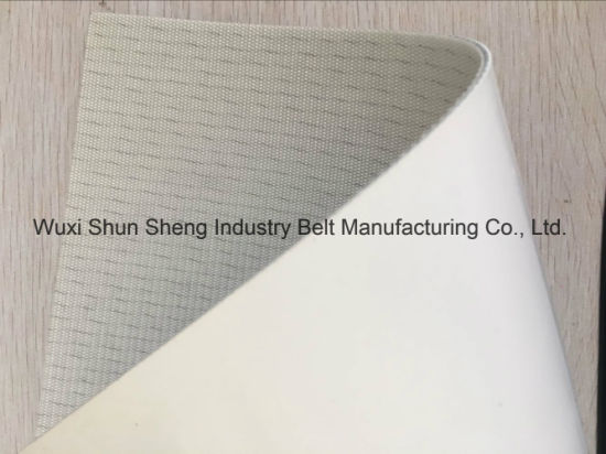 White PU Antistatic (10^8) Conveyor Belt pictures & photos