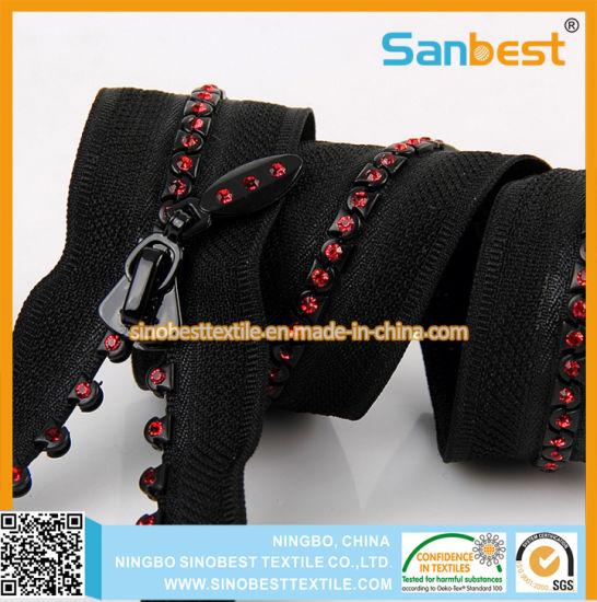 Fashion Resin Diamond Zippers