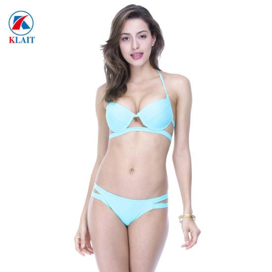 Women Bikini Tankini Set Halter Swimdress Padded Beachwear Push Up Swimsuit