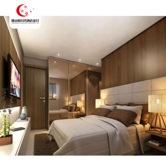 Simple Design 5 Star Double Bed Size Customized Hotel Bed Room Furniture Set