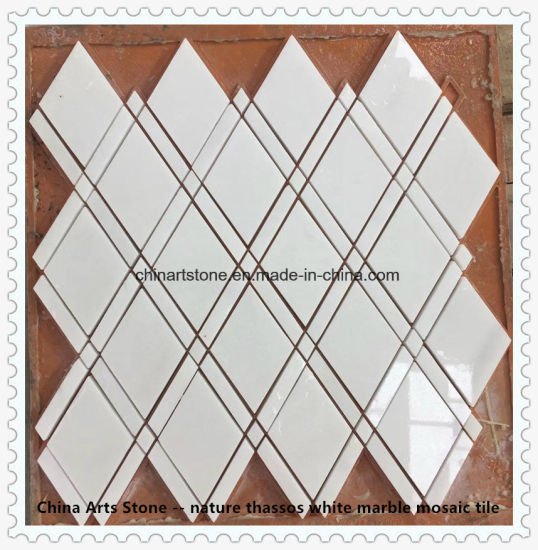 Pure White Thassos Nature Marble Mosaic Tile pictures & photos
