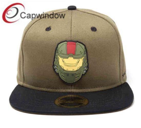 PVC Logo on Snapback Hat with Custom Enclosure Woven Label