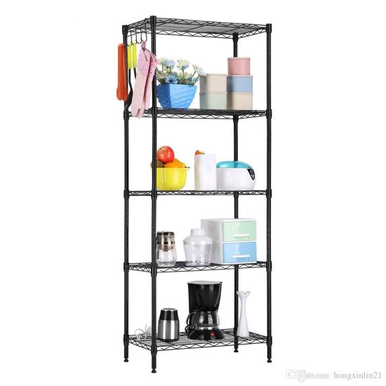 Home Kitchen Garage Wire Shelving Multi-Funtion Storage Rack Adjustable Metal Shelf pictures & photos