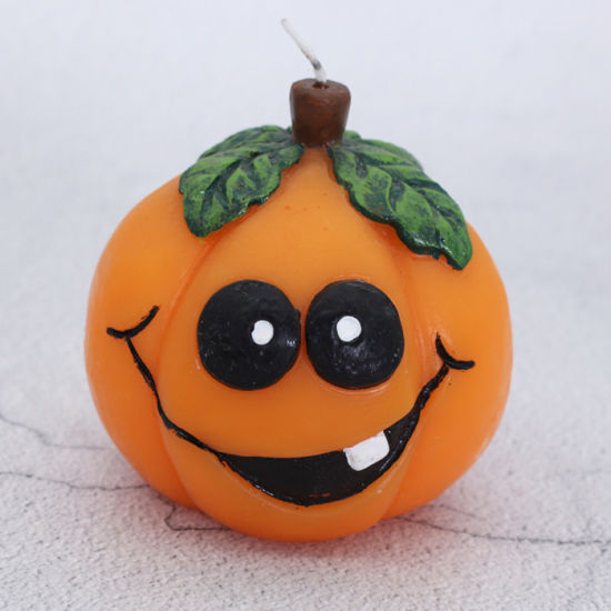 Wholesale Custom Paraffin Wax Halloween Artistic Pumpkin Candle