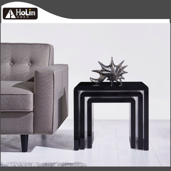 China Black High Gloss Coffee Tabletea Tablenesting Tables