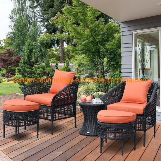 Pleasant China 5Pcs Patio Rattan Sofa Ottoman Furniture Set Outdoor Uwap Interior Chair Design Uwaporg