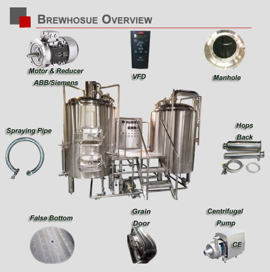 Commercial Beer Brewery 800L Pub Business Needed Beer Brewing Equipment pictures & photos