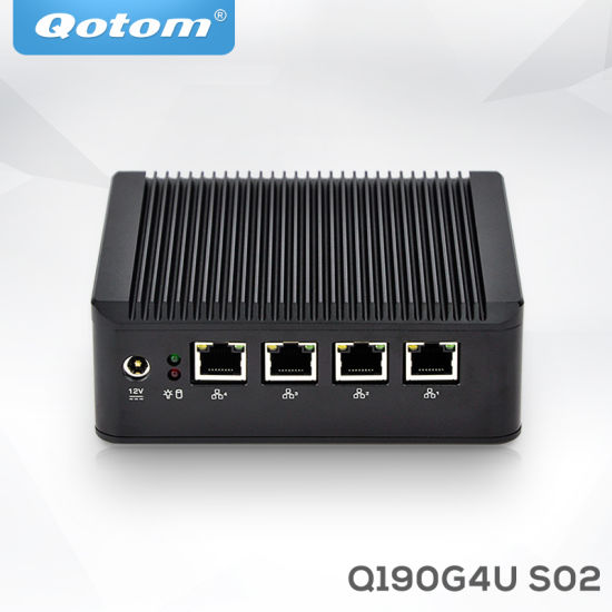 China Qotom-Q190g4u-S02 Fanless Mini PC Quad Core Celeron J1900 with
