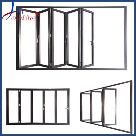 Aluminum Bi-Folding Glass Doors / Aluminium Sliding Folding Patio Doors