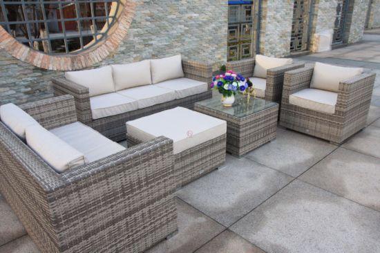 Piece Sofa Set In Mixed Grey Rattan, Smart Living 6 Piece Patio Set
