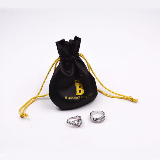 Custom Printed Small Drawstring Promotional Velvet Gift Packaging Jewelry Bag