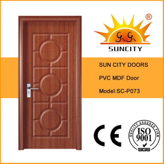 Romania Market Laminated MDF/PVC Patio Glass Sliding Door