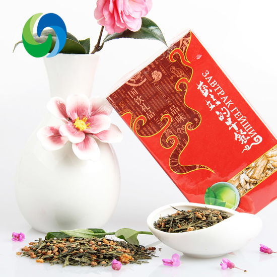Factory Supply Organic Brown Rice Green Tea High Aroma Roasted Rice Tea