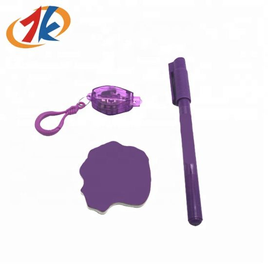 Novelty Magical Invisible Ink UV Light Ballpoint Pen Toy