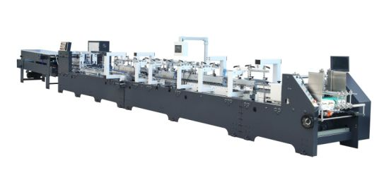 High Efficiency and High Speed Best Quality Small Box Folder Gluer Machine for Sale (GK-800CS) Series