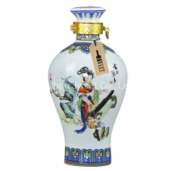 China Factory 700 Ml Ceramic Vodka Bottle