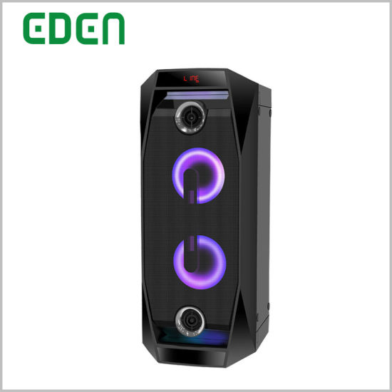 Wireless Professional Portable Rechargeable DJ Karaoke Sound Box Trolley Bluetooth PA Speaker with LED Light ED-802