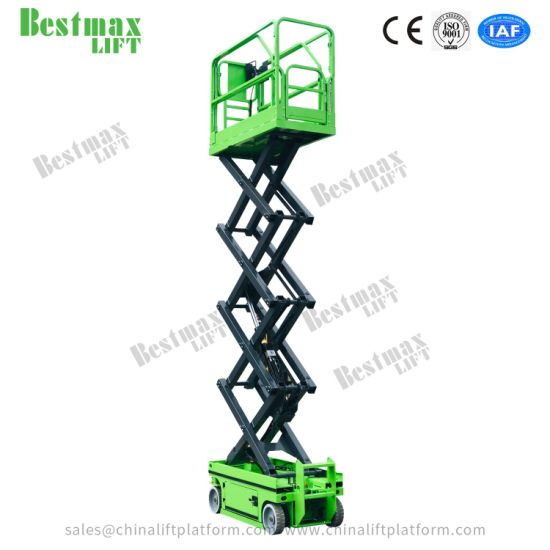 5-8 Meters Electric Scissor Lift Table with Extension Platform