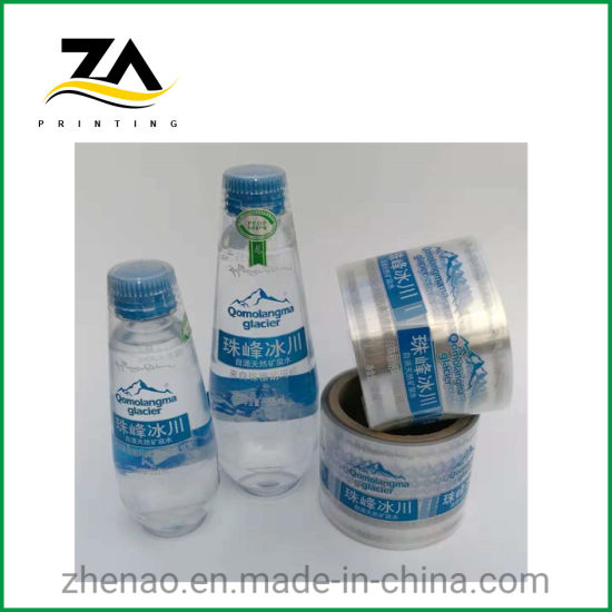 PVC/Pet Print Label Printing Bottle Sticker for Mineral Water