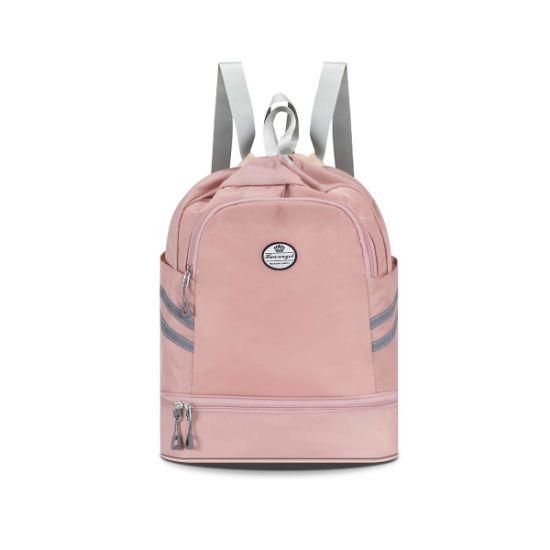 Beach String Drawstring Backpack Sport Cinch Sack Swim Gym Bag School Sackpack