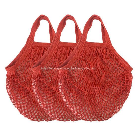 Portable All-Cotton Supermarket Shopping Net Bag Vegetable Fruit Net Bag Hollow-out Woven Cotton Mesh Bag