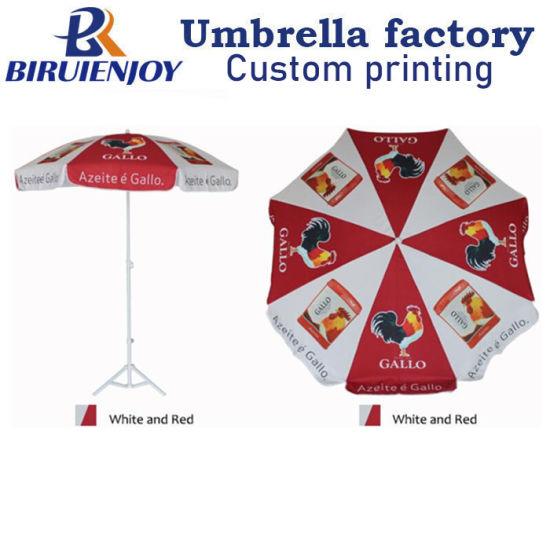 180cm 8K Logo Printed Promotional Custom Beach Umbrella for Advertising
