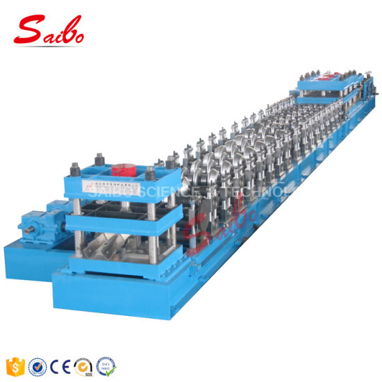 Crash Barrier Guard Rail Highway Roll Forming Machine Drive by Gear Box Manufacturer