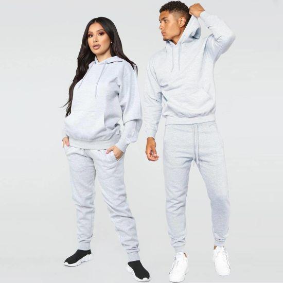 Custom Unisex Men Women Sweatsuit 2 Piece Set Jogging Suits Wholesale Winter Sports Tracksuits