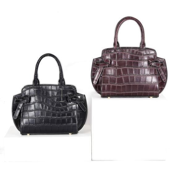 Crocodile Grain Leather Ladies Shoulder Handbag