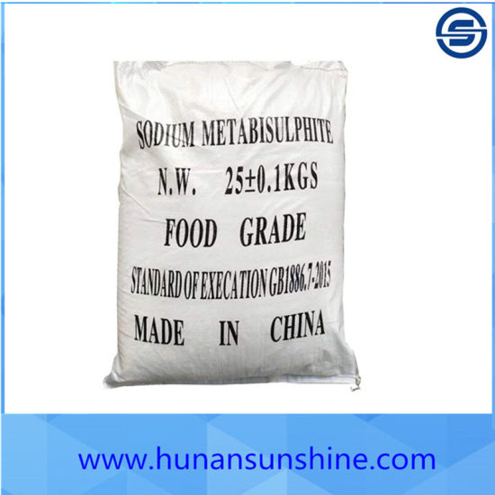 High Purity Sodium Metabisulfite as Food Preservative for Dried Foods E. G. Raisins, Dates and Apples with Best Price pictures & photos