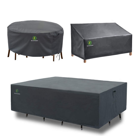 China Durable And Water Resistant Large Outdoor Furniture Cover Rectangular Patio Table Chair Set Cover China Furniture Cover And Chair Cover Price