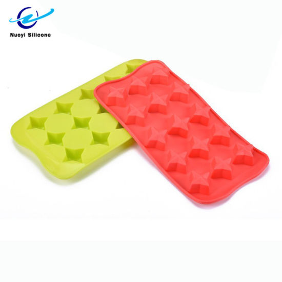 Four-Pointed Star Shape Ice Maker Silicone Ice Mold