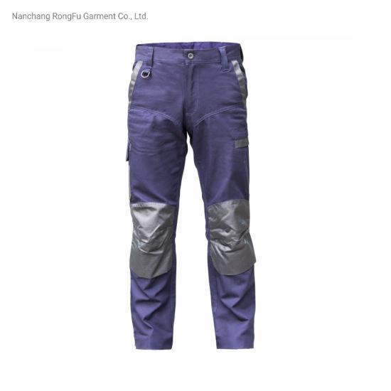 Contrast Color Matching Repair Machine Multi Functional Pockets Men's Work Pants