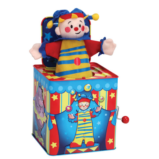 Wholesale Lovely Plush Metal Tin Toy Tinplate Jack in The Box pictures & photos