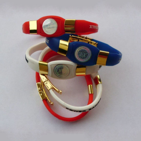 Customized Design Silicone Balance Bracelet pictures & photos