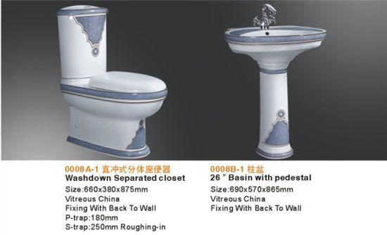 China Ceramic Sanitary Ware Toilet Bidet Basin Bathroom Suite ...